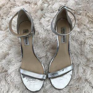 Steve Madden Silver Ankle Strap Sandal